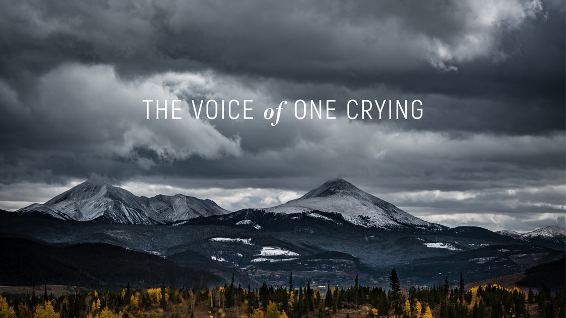 The Voice of One Crying