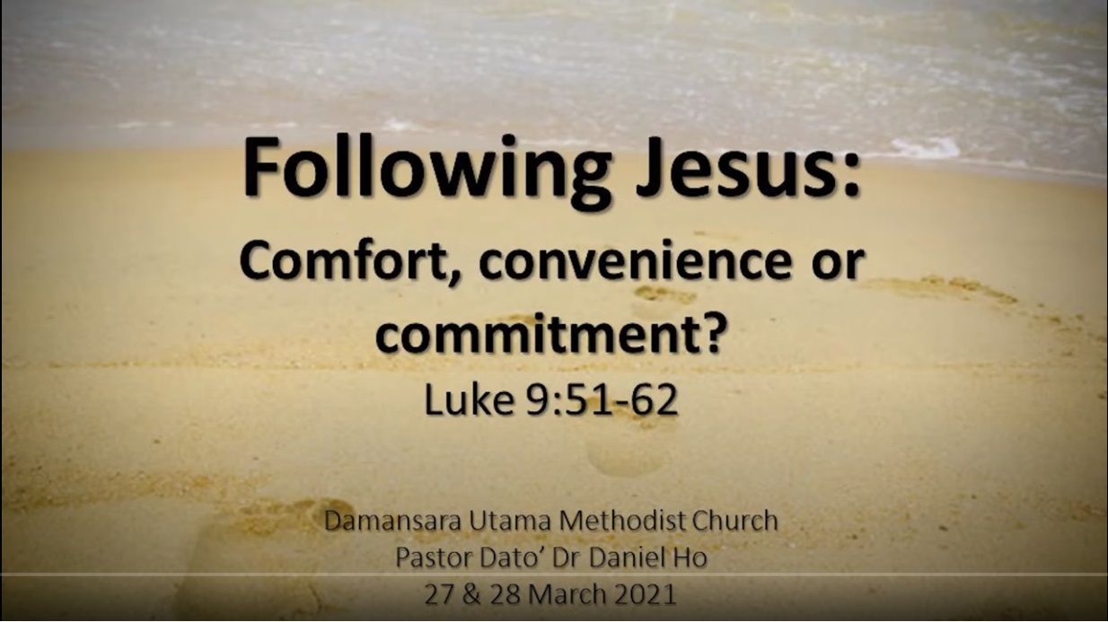 Following Jesus: Comfort, Convenience or Commitment?